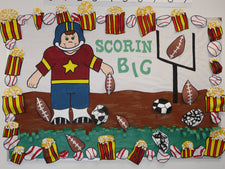 Scorin' BIG! - Sports Themed Bulletin Board Idea