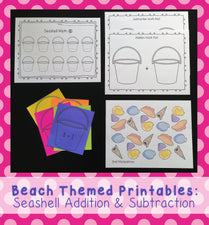 Seashell Addition & Subtraction Printables