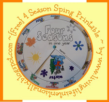 Weather Unit - Four Season Spinner Printable