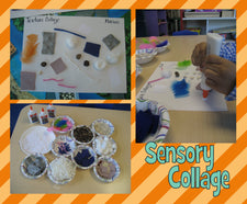 Creating Texture Collages - Sensory Activity
