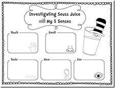 Exploring Seuss Juice - Fun Lesson with FREE Printables!