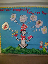 Let Your Imagination Take You There! - Dr. Seuss Reading Bulletin Board