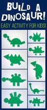 Shape Dinosaurs - Simple and Fun Activity for Your Kiddos!