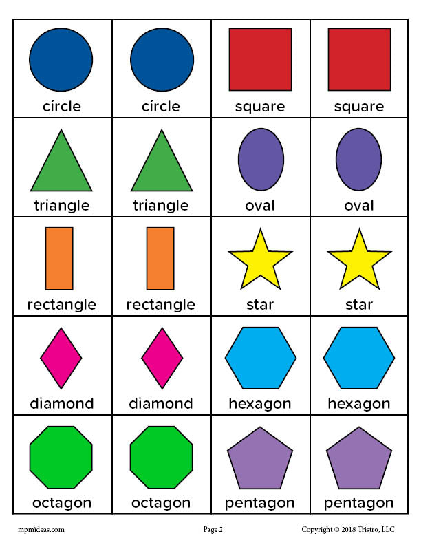 image about Shapes Printable named Absolutely free Printable Designs Matching Memory Activity! SupplyMe
