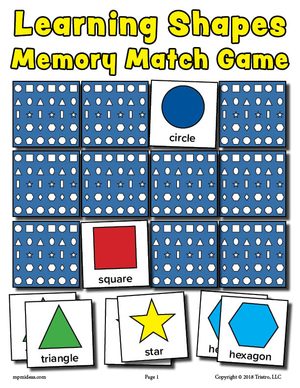 picture relating to Printable Match Game known as Free of charge Printable Styles Matching Memory Activity! SupplyMe