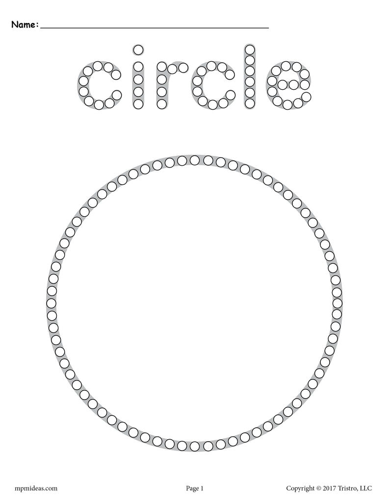 image about Q Tip Painting Printable titled Cost-free Circle Q-Suggestion Portray Printable - Circle Worksheet