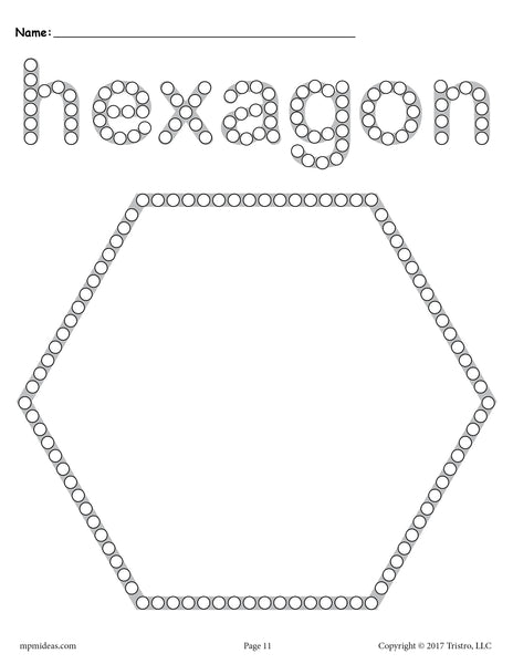 Hexagon Q-Tip Painting Printable - Hexagon Worksheet ...