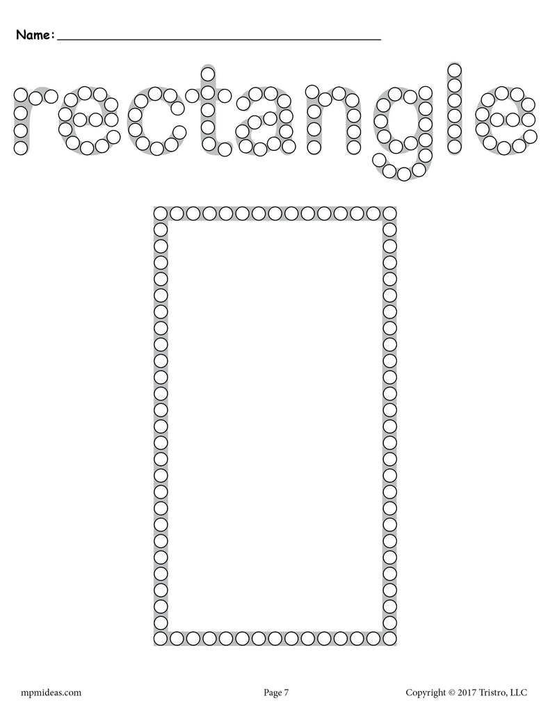 free rectangle q tip painting printable rectangle worksheet coloring page supplyme. Black Bedroom Furniture Sets. Home Design Ideas