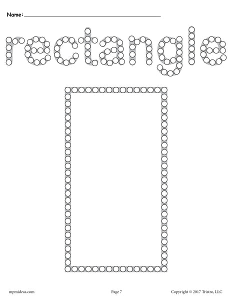 Free Rectangle Q Tip Painting Printable Rectangle
