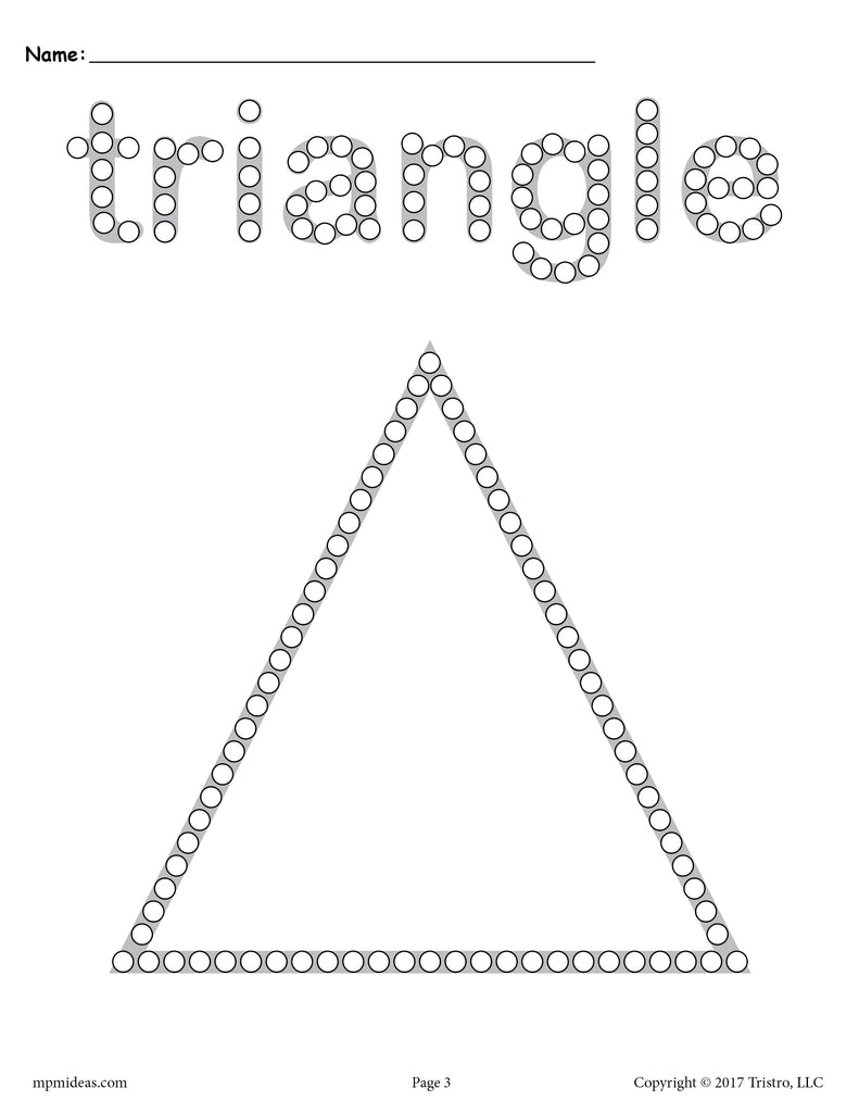 photo about Q Tip Painting Printable titled Free of charge Triangle Q-Suggestion Portray Printable - Triangle Worksheet