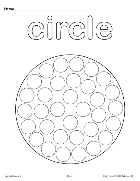 FREE Circle DoADot Printable