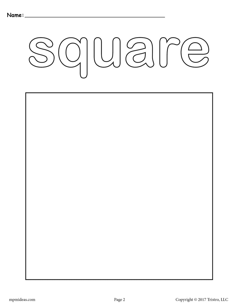 coloring pages for square shape - photo#4