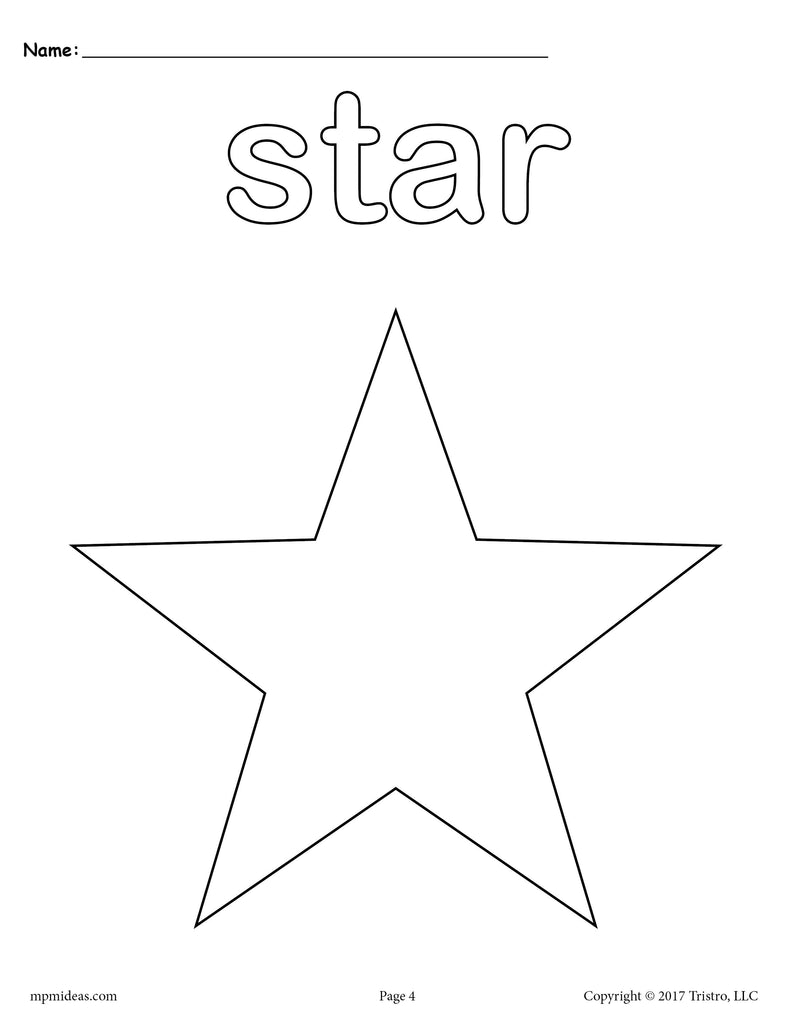 FREE Star Coloring Page