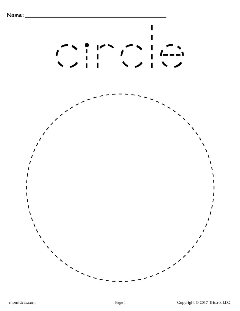 FREE Circle Tracing Worksheet