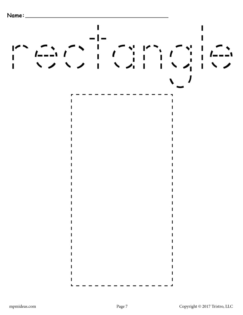It's just a picture of Rectangle Printable inside cartoon