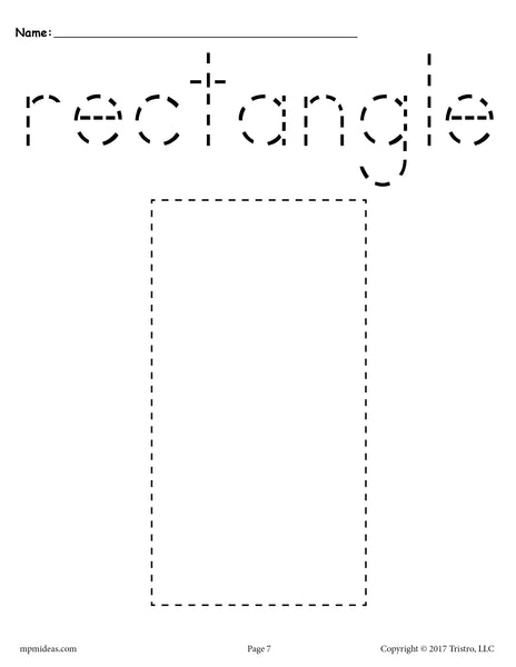 rectangle coloring pages for preschoolers | Rectangle Tracing Worksheet - Printable Tracing Shapes ...