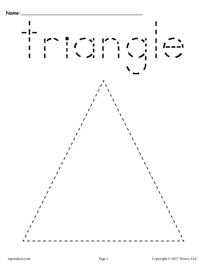 FREE Triangle Tracing Worksheet