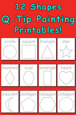 12 Shapes Q-Tip Painting Printables!
