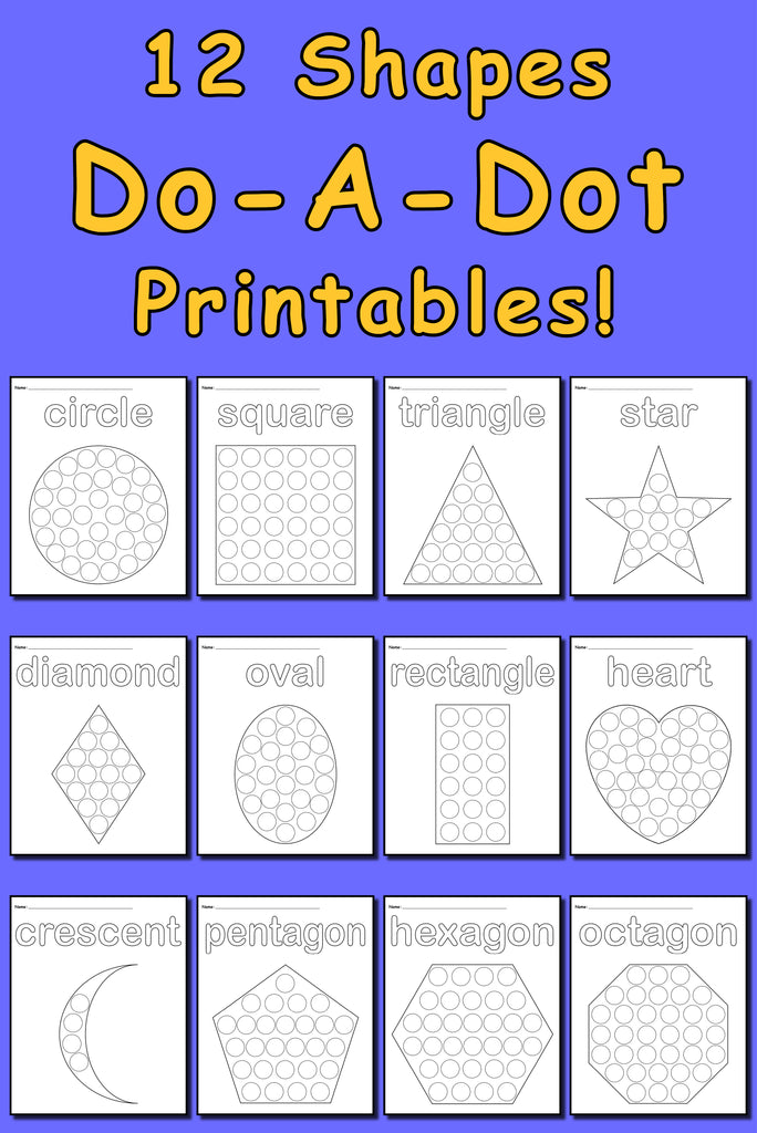 12 Shapes Do A Dot Printables A7549 on Halloween Color By Number