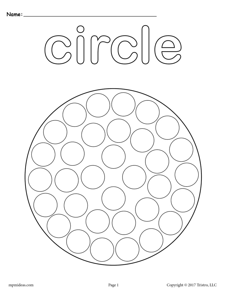 8 Circle Worksheets Tracing Coloring Pages Cutting More Supplyme