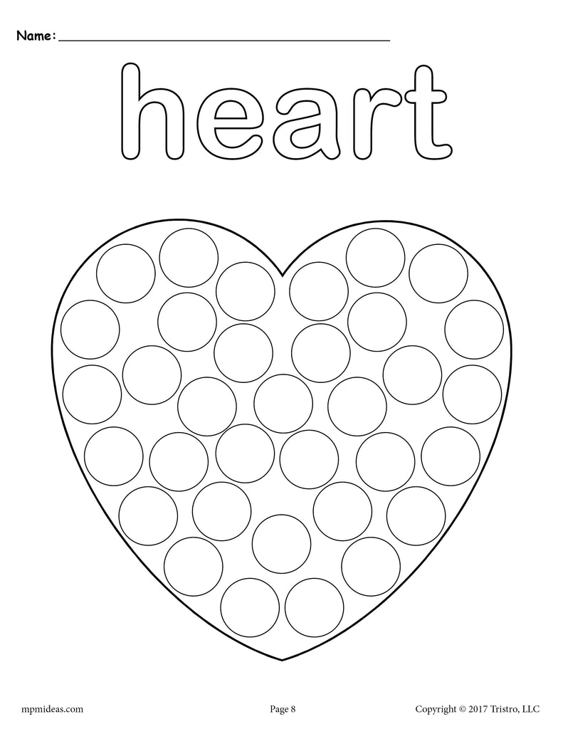 8 Heart Worksheets: Tracing, Coloring Pages, Cutting & More! – SupplyMe
