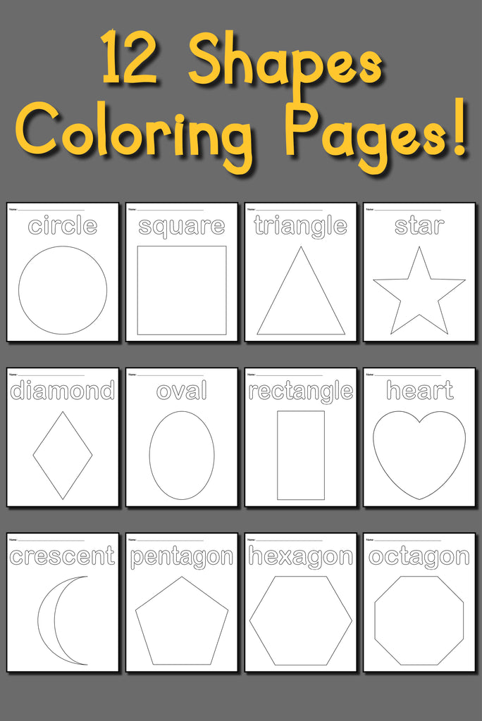 12 Shapes Coloring Pages Supplyme