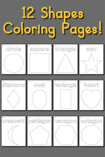 12 Shapes Coloring Pages!