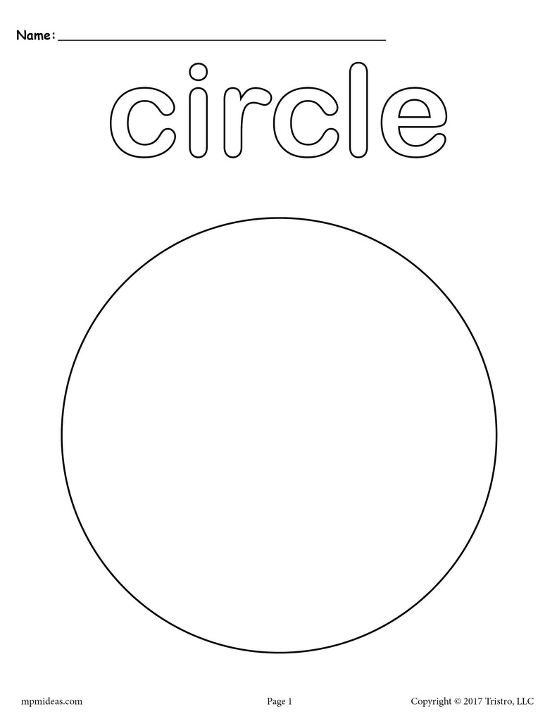 8 Circle Worksheets: Tracing, Coloring Pages, Cutting & More!
