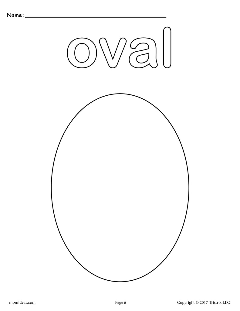 8 oval worksheets tracing coloring pages cutting more supplyme