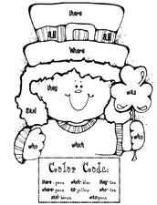 Sight Word Leprechaun Coloring Page