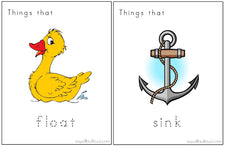 """Will It Sink or Float?"" - Printable Activity Mats"