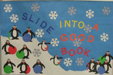 Slide Into A Good Book! Penguin Winter Bulletin Board Idea