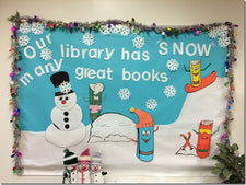 """Our Library Has 'Snow' Many Great Books!"" Bulletin Board"