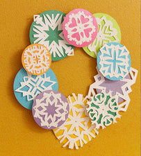 Snowflake Wreath for the Classroom