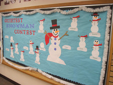 Winter Snowman Incentive Bulletin Board Idea