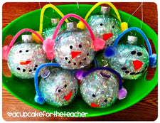"""I Love You SNOW Much!"" Adorable Snowman Ornament Craft for Kids!"