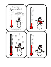 Learning About Temperature & Sequencing with Snowmen