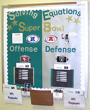 Solving Equations: Super Bowl Interactive Bulletin Board Display
