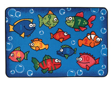 Something Fishy Numbers KID$ Value Discount Classroom Rug, 4' x 6' Rectangle