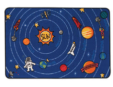 Spaced Out KID$ Value Discount Play Room Rug, 4' x 6' Rectangle