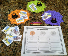 Halloween Literacy Center - Web Word Families