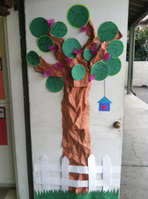 """Spring Circle Tree!"" A Geometry Bulletin Board Idea"