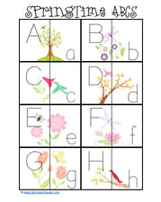 Spring Alphabet, Printing, & Sight Word Practice