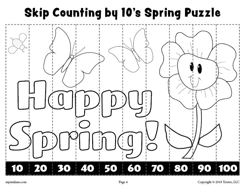 8 free printable spring counting worksheets counting 1 10 skip coun supplyme. Black Bedroom Furniture Sets. Home Design Ideas