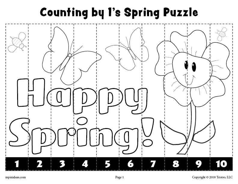 8 Free Printable Spring Counting Worksheets Counting 1 10 Skip