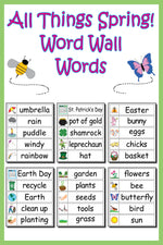 30 Spring Word Wall Words - FREE Printable