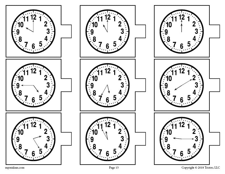 FREE Printable Spring Themed Telling Time Matching Activity