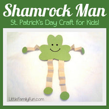 """Shamrock Man"" - A Simple Craft for St. Patrick's Day!"