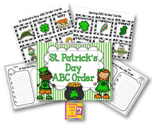 St. Patrick's Day ABC Order Activity FREEbie