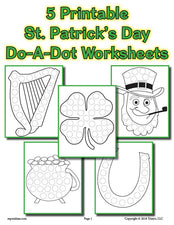 5 St. Patrick's Day Do-A-Dot Printables!